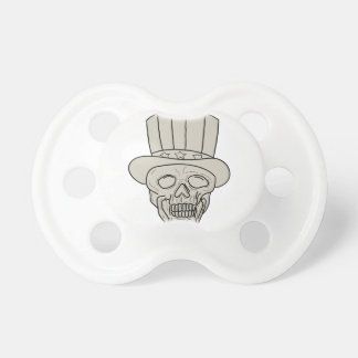 Uncle Sam Top Hat Skull Drawing Dummy