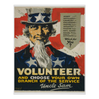 Uncle Sam - Volunteer Poster