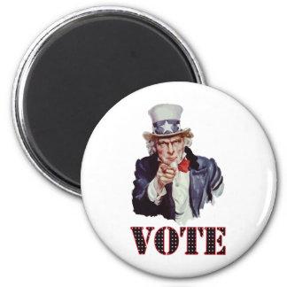 Uncle-Sam---Vote 6 Cm Round Magnet