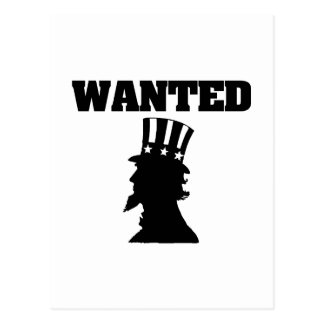 Uncle Sam Wanted Postcard