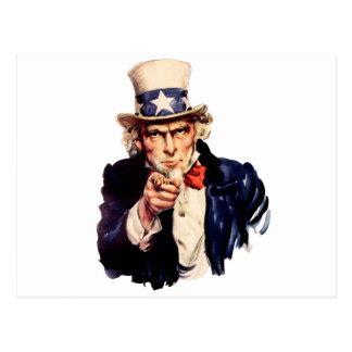 Uncle Sam Wants You! Postcard
