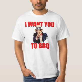 Uncle Sam Want's YOU to BBQ T-Shirt