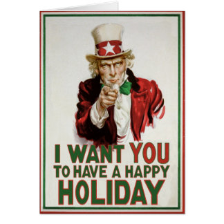 Uncle Sam wants YOU to have a Happy Holiday Card
