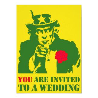 Uncle Sam Wedding 5.5x7.5 Paper Invitation Card