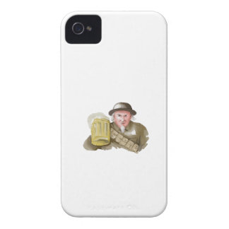 Uncle Sam WW1 Soldier Toasting Beer Watercolor iPhone 4 Cases