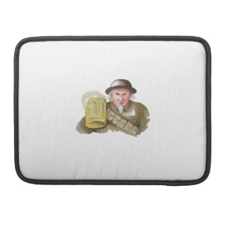 Uncle Sam WW1 Soldier Toasting Beer Watercolor Sleeve For MacBook Pro