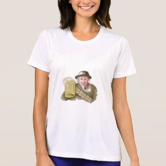 Uncle Sam WW1 Soldier Toasting Beer Watercolor T-Shirt