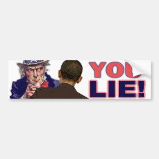 Uncle Sam: You Lie! Bumper Sticker