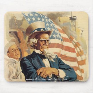 """Uncle Sam's on the Bridge!"" mousepad"