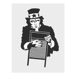 Uncle Sam's Washboard Post Card