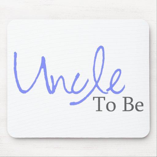 Uncle To Be (Blue Script) Mouse Mats