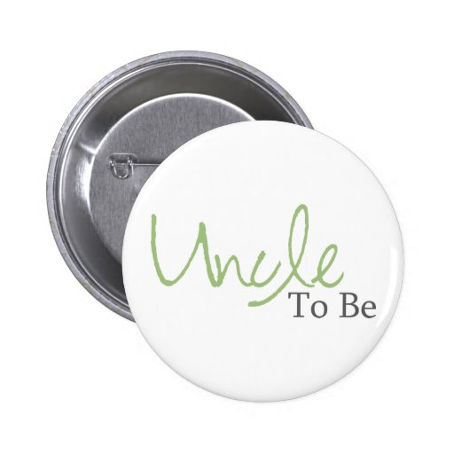 Uncle To Be (Green Script) Pin