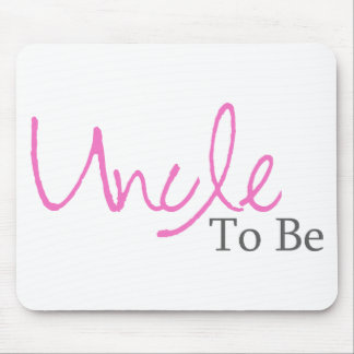 Uncle To Be (Pink Script) Mouse Pad