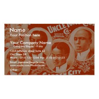 Uncle Tom s Cabin Garden City Quartette Retro T Business Cards