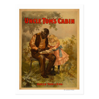 Uncle Tom's Cabin Black Man & Girl Theatre Postcard