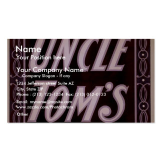 Uncle Tom's Cabin Business Card