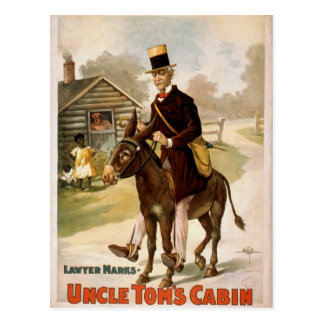Uncle Tom's Cabin, 'Lawyer Marks' Retro Theater Postcard