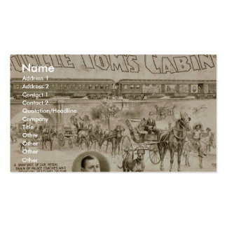 Uncle Toms Cabin Vintage Theater Business Card