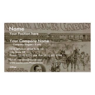Uncle Toms Cabin Vintage Theater Business Card Templates