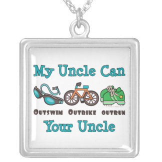 Uncle Triathlon Sterling Silver Necklace