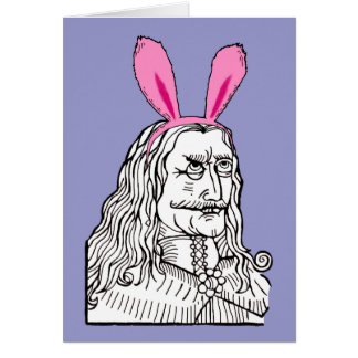 Uncle Vlad with bunny ears Greeting Card