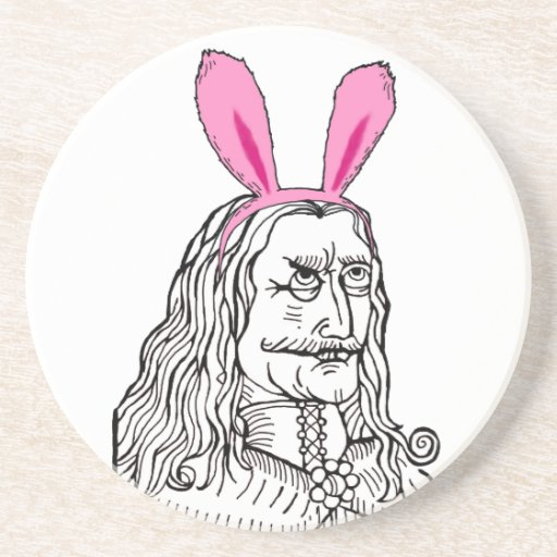 Uncle Vlad with bunny ears Beverage Coasters