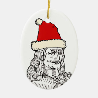 Uncle Vlad's Christmas Ceramic Ornament