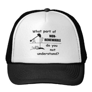 Unclear On The Concept Of Renewable Energy T-Shirt Cap
