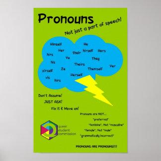 Unclouding Pronoun Poster