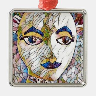Uncommon Artistic Mannequin Face Metal Ornament