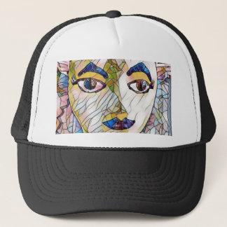Uncommon Artistic Mannequin Face Trucker Hat