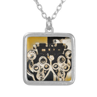 Uncommon  Artistic Optometry Exam Lenses Silver Plated Necklace