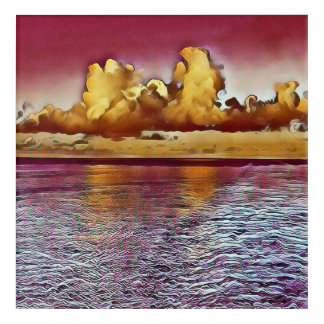 Uncommon Beautiful Artistic Ocean Clouds Water Ref Acrylic Wall Art
