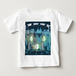 Uncommon Blue Classy Chic Artistic Wine Bottles Baby T-Shirt