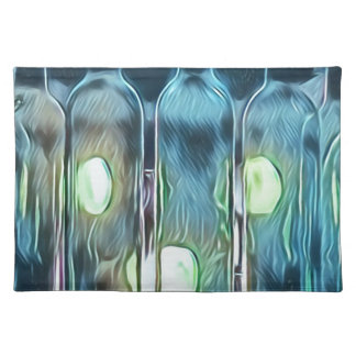 Uncommon Blue Classy Chic Artistic Wine Bottles Placemat
