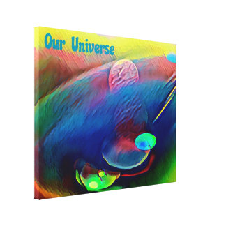 Uncommon Bright Rainbow Our Universe Abstract Canvas Print