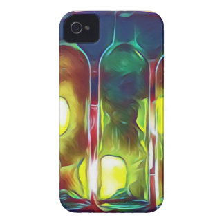 Uncommon Funky Multi-Color  Artistic Wine Bottles Case-Mate iPhone 4 Cases