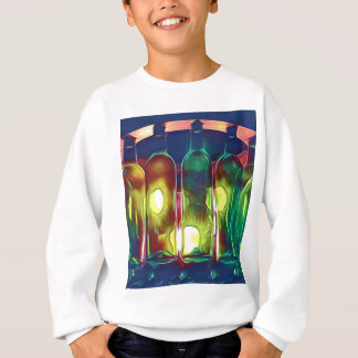 Uncommon Funky Multi-Color  Artistic Wine Bottles Sweatshirt