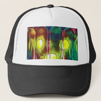 Uncommon Funky Multi-Color  Artistic Wine Bottles Trucker Hat