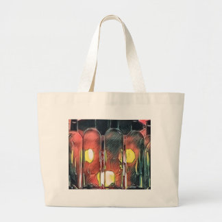 Uncommon Funky Rose Cinnamon Artistic Wine Bottles Large Tote Bag