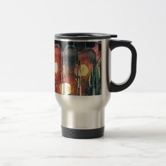 Uncommon Funky Rose Cinnamon Artistic Wine Bottles Travel Mug