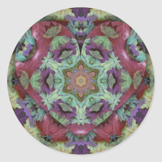 Uncommon Rich Colored Modern Abstract Classic Round Sticker