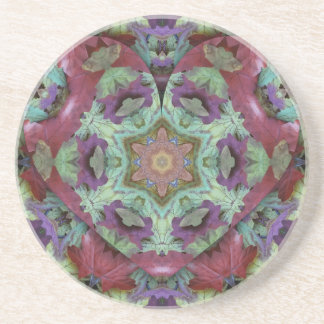 Uncommon Rich Colored Modern Abstract Drink Coaster