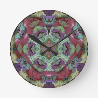 Uncommon Rich Colored Modern Abstract Round Clock