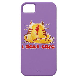 unconcerned cat sitting back turned iPhone 5 covers
