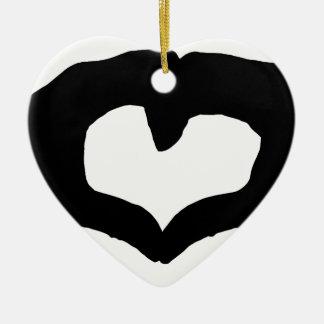 Unconditiona Love Ceramic Heart Decoration