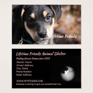 Unconditional Love Animal Shelter Business Card