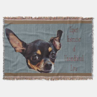 Unconditional Love-Chihuahua- Woven Throw