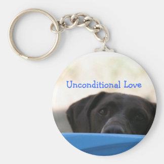 Unconditional Love Dog Keychain