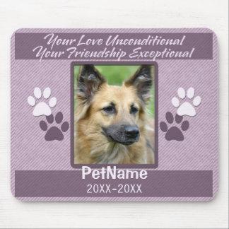 Unconditional Love Pet Sympathy Custom Mouse Pad